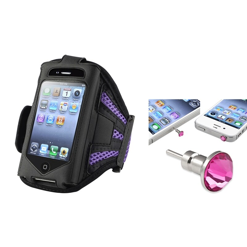Padded ArmBand Case/Headset Dust Cap for Apple iPod Touch Generation 2/3