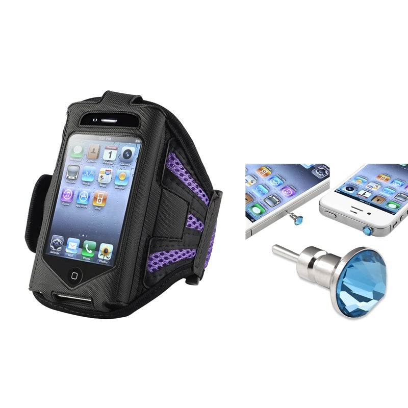Durable ArmBand Case/Headset Dust Cap for Apple iPod Touch Generation 2/3