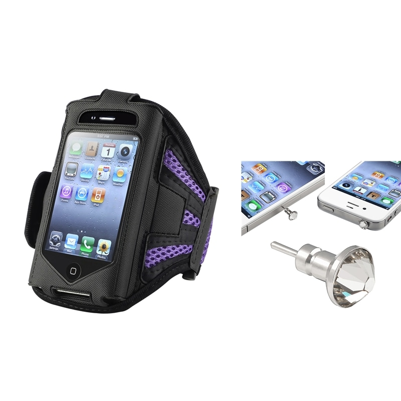 INSTEN Contemporary ArmBand iPod Case Cover/ Headset Dust Cap for Apple iPod Touch Generation 2/ 3