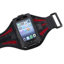 INSTEN ArmBand iPod Case Cover/ Black Dust Cap Stylus for Apple iPod Touch Generation 2/ 3