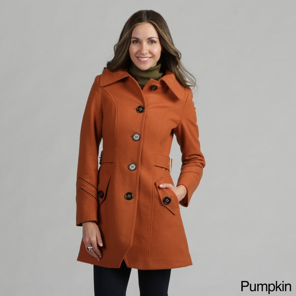 Miss Sixty Women's Belted Sides Wool Coat
