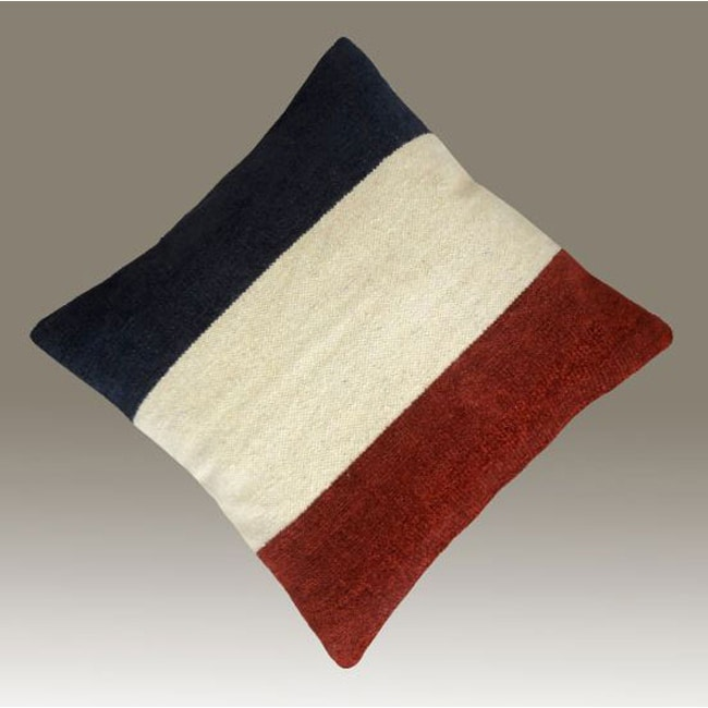 nuLOOM Handmade France Flag Decorative Pillow