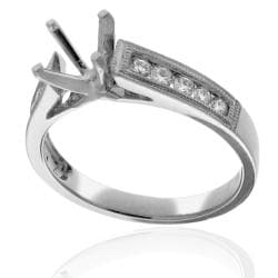 14k White Gold 1/3ct TDW Diamond Round Engagement Ring (G-H, SI-1/SI-2)