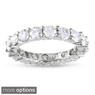 Miadora 14k White Gold TDW Diamond Eternity Ring|https://ak1.ostkcdn.com/images/products/6836206/P14364170.jpg?impolicy=medium