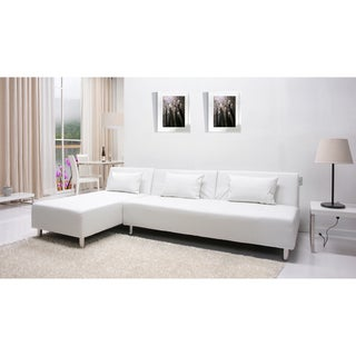 Atlanta White Convertible Sectional Sofa Bed