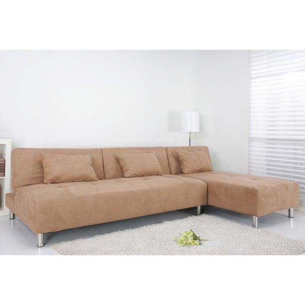 Atlanta Cobblestone Convertible Sectional Sofa Bed Free Shipping Today 14364247