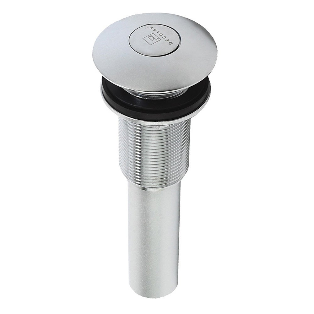 Matte Chrome Umbrella Push Button Drain - Thumbnail 0