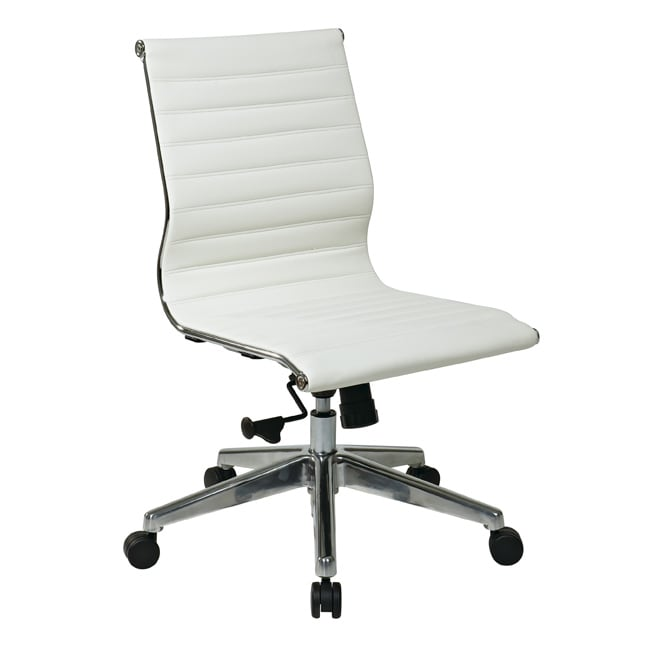 Office Star Mid Back Eco Leather Chair Free Shipping Today