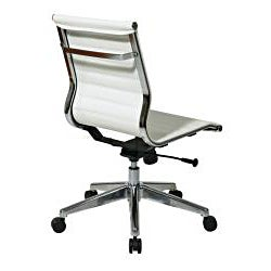 Office Star Mid-Back Eco Leather Chair - Thumbnail 1