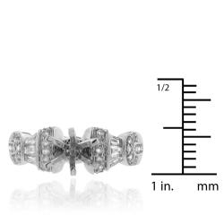 14k White Gold 5/8ct TDW Diamond Semi-mount Engagement Ring (G-H, SI-1/SI-2) - Thumbnail 2