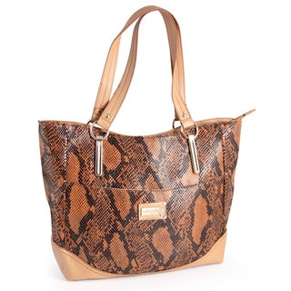 M by Miadora 'Leslie' Snake Embossed Tote Bag