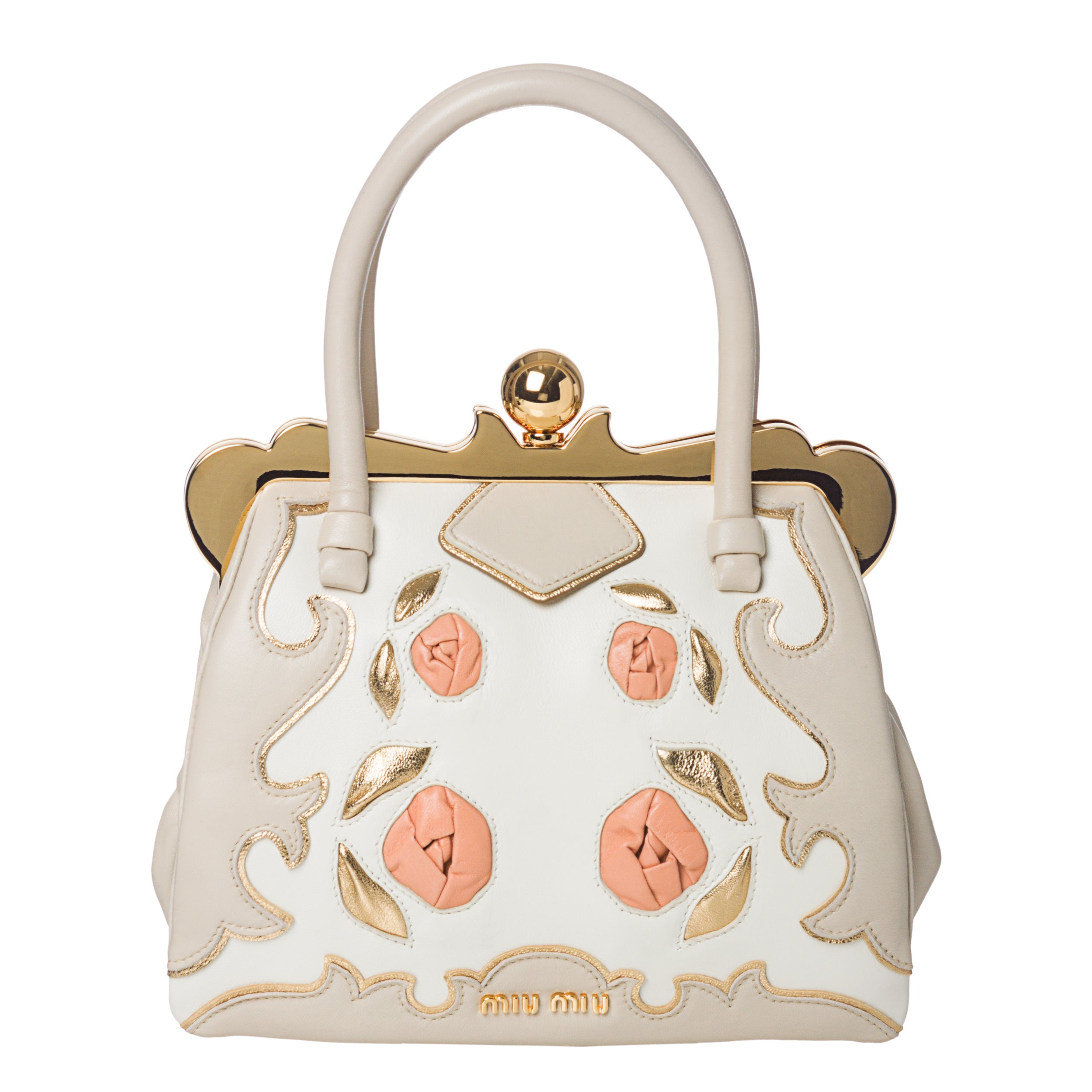 Miu Miu Handbag with Rose Embellishment - Thumbnail 0