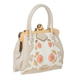 Miu Miu Handbag with Rose Embellishment - Thumbnail 1
