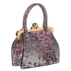 Miu Miu Pink/ Silver Sequined Fabric Handbag - Thumbnail 1