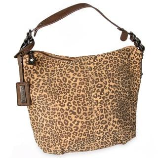 Miadora 'Tara' Leopard Print Hobo Bag