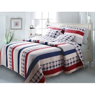 Greenland Home Fashions Nautical Stripes 3-piece Quilt Set (3 options available)