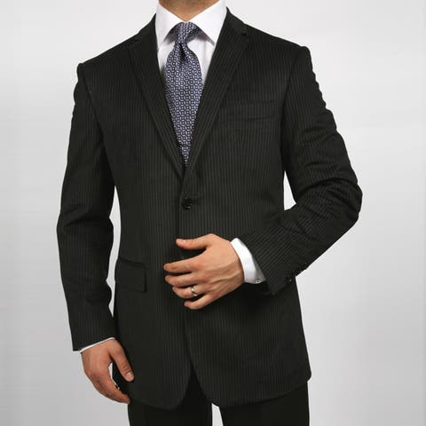 Ferrecci Men's Velvet Black Stripe Blazer