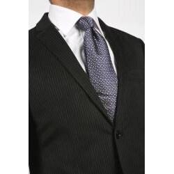 Ferrecci Men's Velvet Black Stripe Blazer - Thumbnail 1