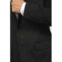Ferrecci Men's Velvet Black Stripe Blazer - Thumbnail 2