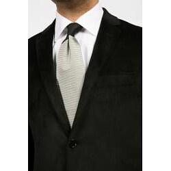 Ferrecci Men's Black Velvet Blazer - Thumbnail 1