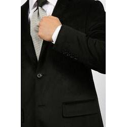 Ferrecci Men's Black Velvet Blazer - Thumbnail 2