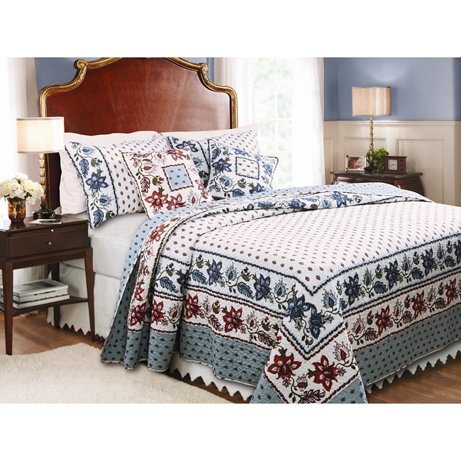 Greenland Home Fashions Madeline 3-piece Quilt Set