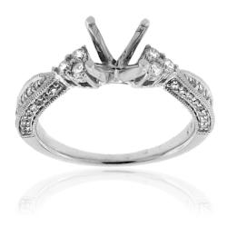 14k White Gold 1/3ct TDW Semi-mount Diamond Engagement Ring (G-H, SI-1/SI-2) - Thumbnail 1