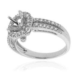 14k White Gold 1/3ct TDW Semi-mount Prong-set Diamond Engagement Ring (G-H, SI-1/SI-2) - Thumbnail 1