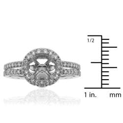 14k White Gold 1/3ct TDW Semi-mount Prong-set Diamond Engagement Ring (G-H, SI-1/SI-2) - Thumbnail 2