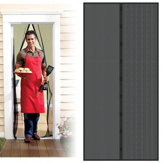 Trademark Home Black Auto Open/Close Magnetic Screen Door