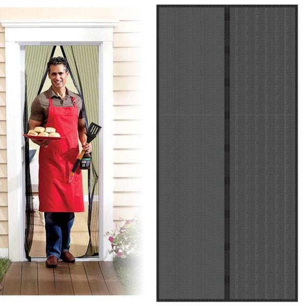 Trademark Home Black Auto Open Close Magnetic Screen Door