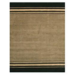 Handmade Wool Ivory Transitional Stripe Athens Rug (8' x 10')