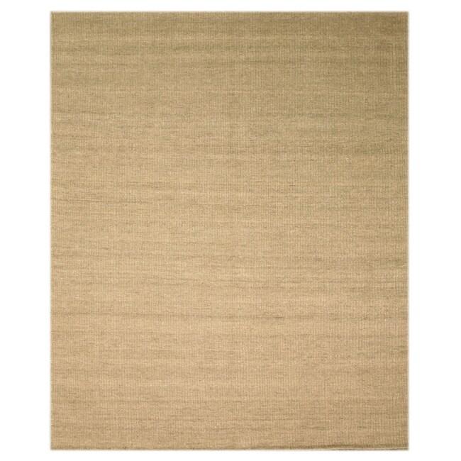 EORC Handmade Wool Grey Bari Rug (8' x 10')