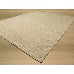 EORC Handmade Wool Grey Bari Rug (8' x 10') - Thumbnail 1