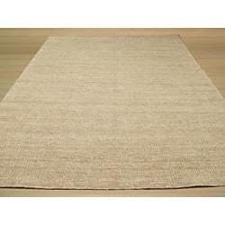 EORC Handmade Wool Grey Bari Rug (8' x 10') - Thumbnail 2