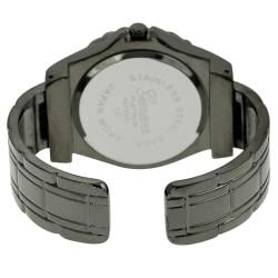 Geneva Platinum Women's Rhinestone-accented Cuff Watch
