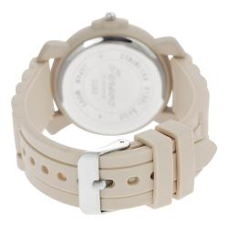 Geneva Platinum Women's Chronograph-Style Japanese-Quartz Silicone Watch - Thumbnail 1