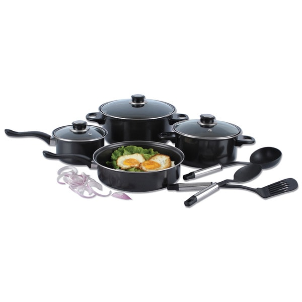 Alpine cuisine 10 piece nonstick cookware set free for Art and cuisine ceramic cookware