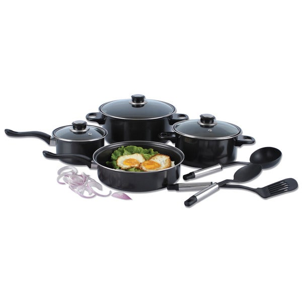 Alpine cuisine 10 piece nonstick cookware set free for Art cuisine cookware reviews