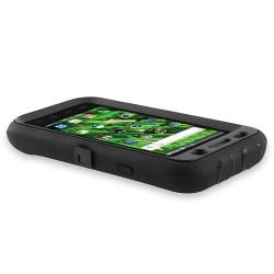 Black Hybrid Case/ LCD Protector/ USB Cable for Samsung Galaxy S i9000 - Thumbnail 2