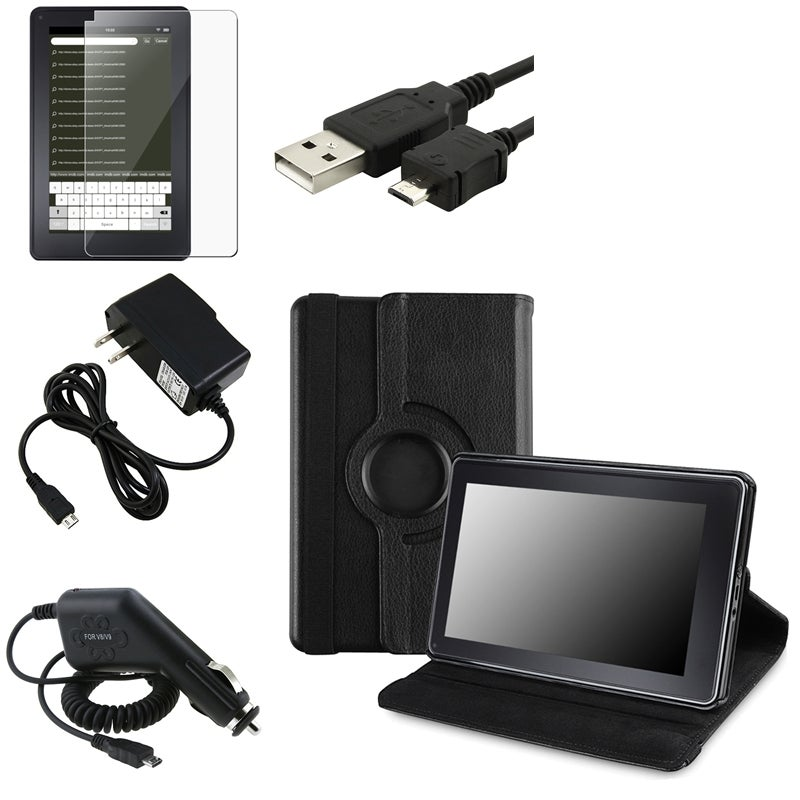Leather Swivel Case/ Chargers/ Protector/ Cable for Amazon Kindle Fire