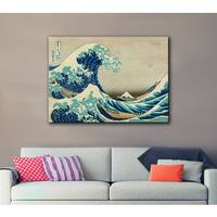 Katsushika Hokusai 8 in x 12 in 'The Great Wave off Kanagawa' Gallery Wrapped Canvas - 08 X 12