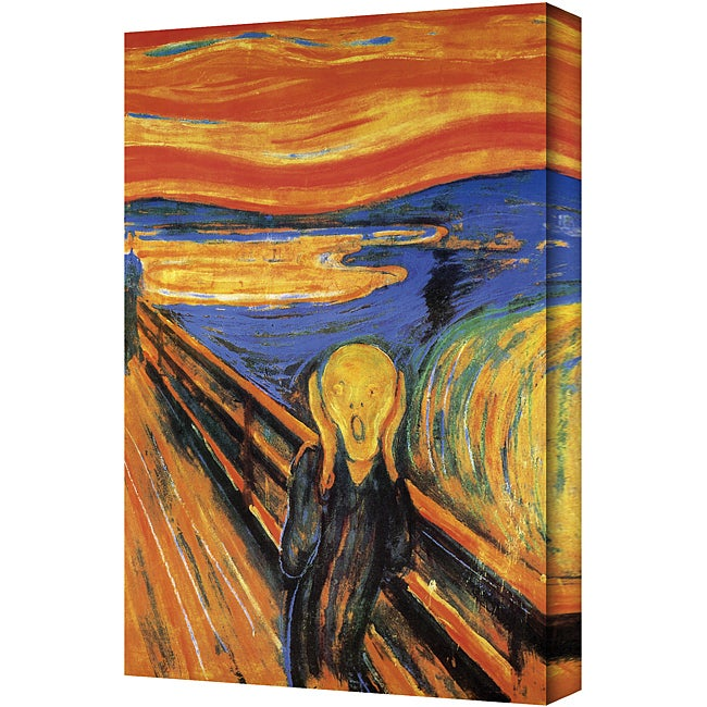 Edward Munch 'The Scream' Gallery-Wrapped Large Canvas