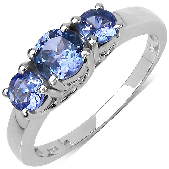 Malaika Sterling Silver 0.99ct TDW Tanzanite Ring