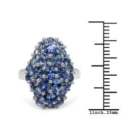 Malaika Sterling Silver 2.7ct TDW Tanzanite Ring
