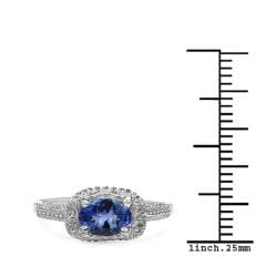 Malaika Sterling Silver 0.79ct TDW Tanzanite and White Sapphire Ring