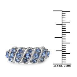 Malaika Sterling Silver 0.84ct TDW Tanzanite Ring - Thumbnail 2