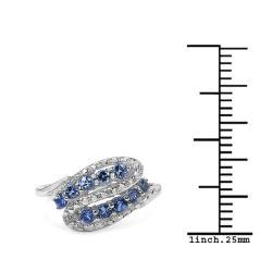 Malaika Sterling Silver 0.35ct TDW Gemstone Ring