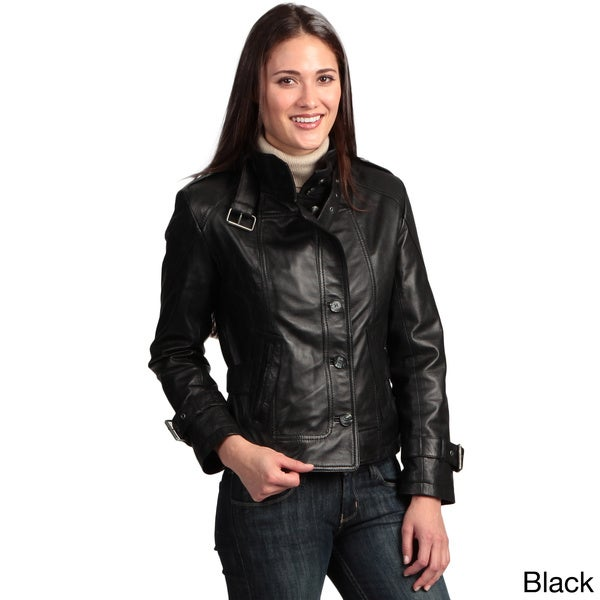 Collezione Italia Women's Lambskin Leather Jacket - Free Shipping ...
