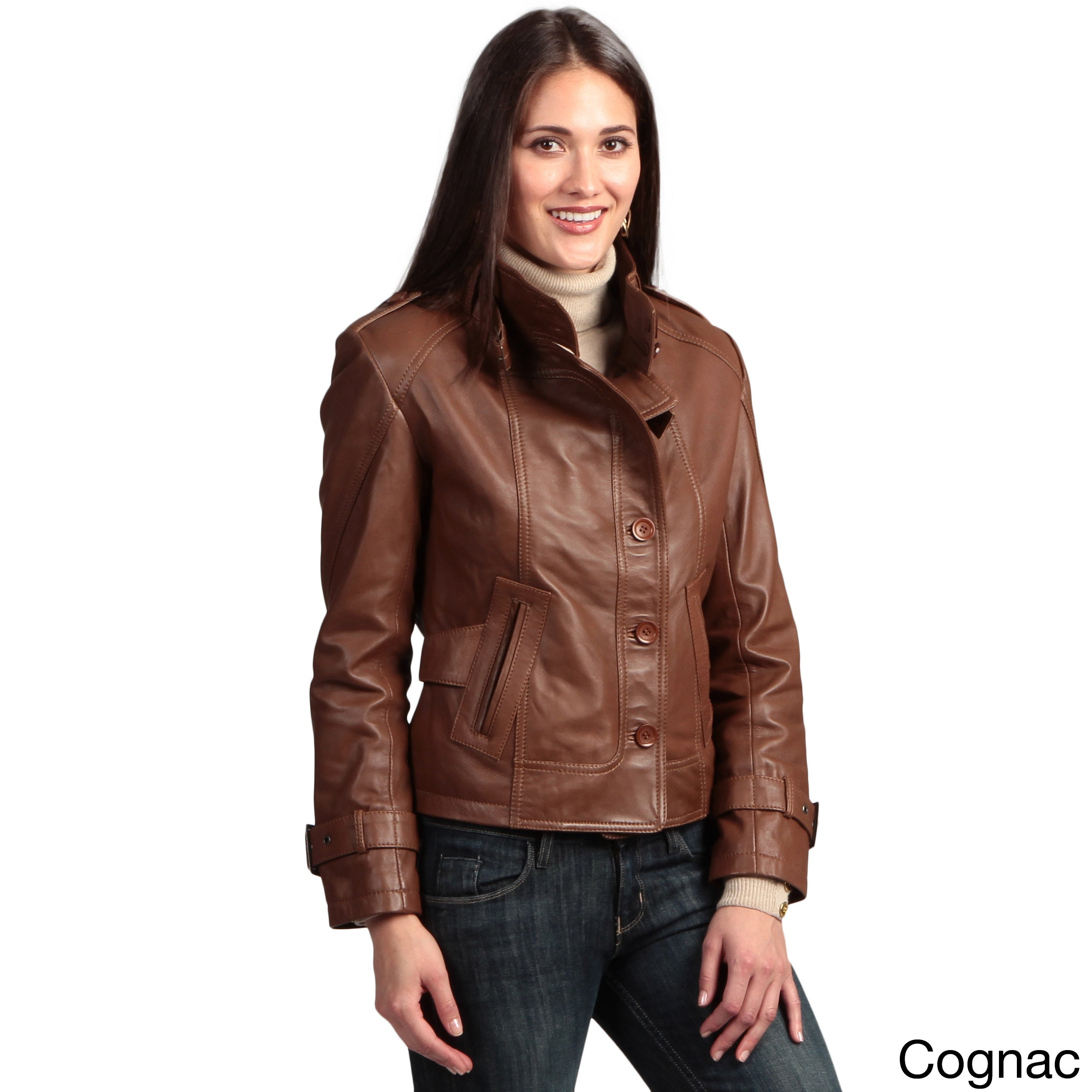 separation shoes 42693 1daf3 Collezione Italia Women's Lambskin Leather Jacket